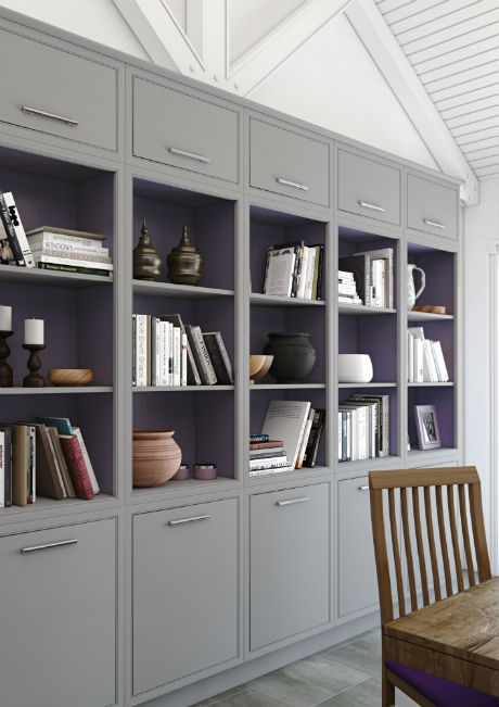Banner Modern Classic single bookcases with short wall units